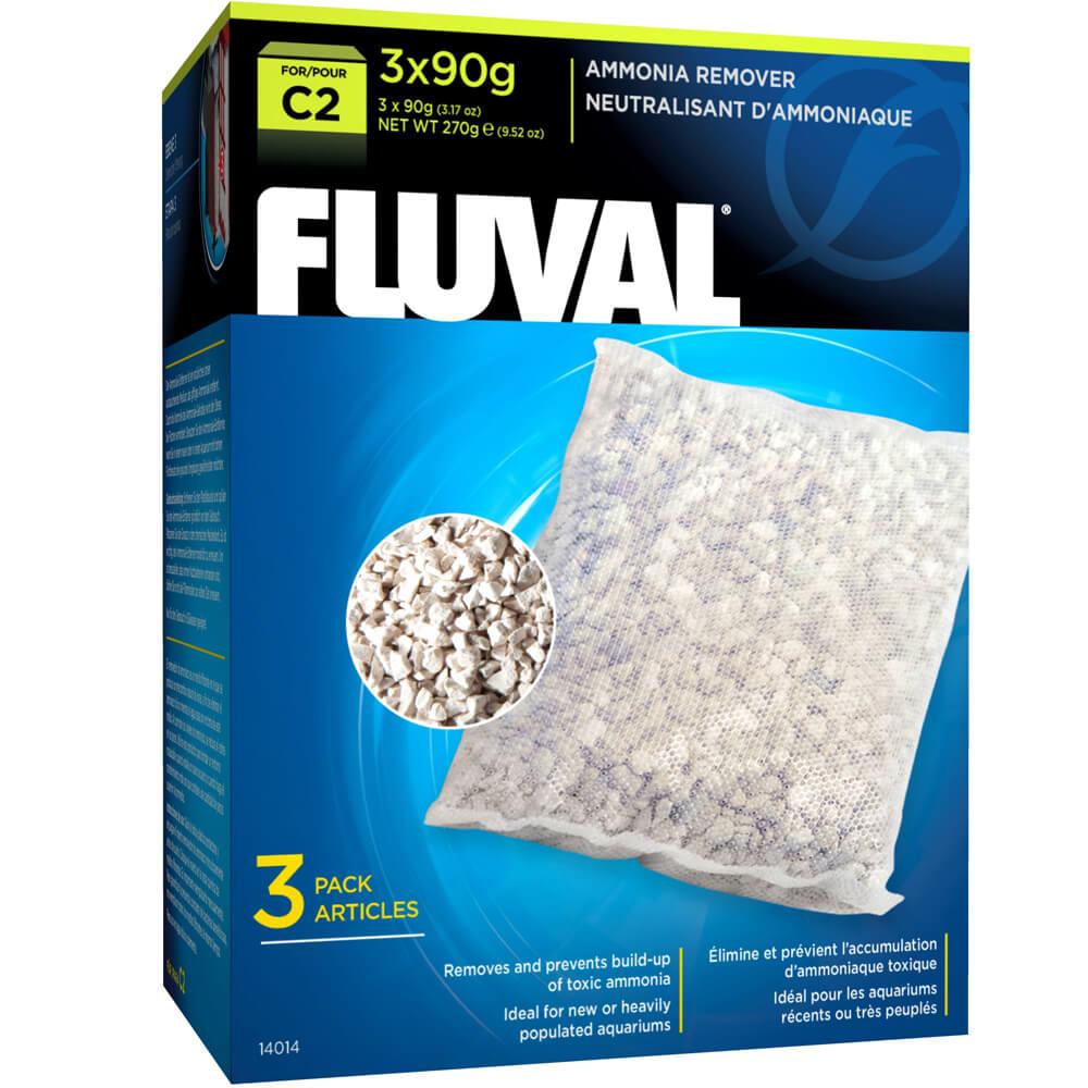 3 Pack Fluval C2 Zeo-Carb Power Filter
