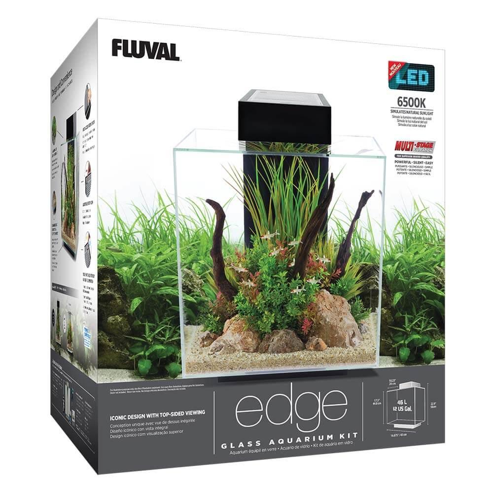 Fluval EDGE Aquarium Kit, 12 US Gal (46 L), White